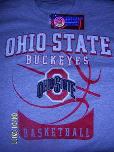 OSU Ohio State Buckeyes Basketball T Shirt Medium