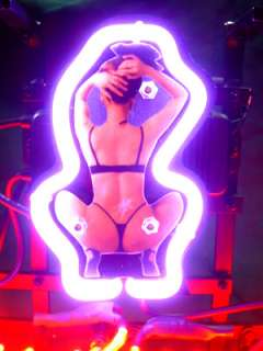 BUDWEISER GIRL BEER BAR NEON LIGHT SIGN if049