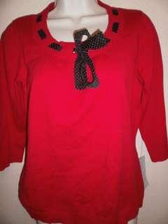 MERCER STREET STUDIO Womens RED Shirt M Medium NWT $44