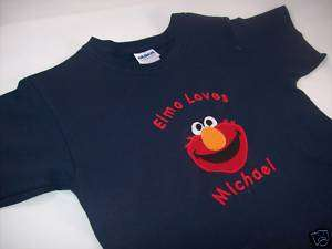 Personalized Custom Sesame Street Elmo T Shirt