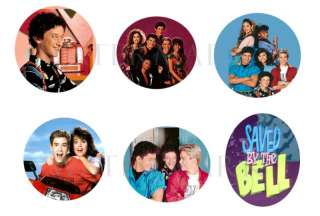 Saved By the Bell set of 6 ONE INCH BUTTONS 1 Pins