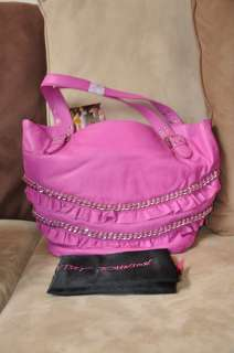 EVENT LEATHER TOTE BAG PURSE PINK BV53840P AUTHENTIC   NEW