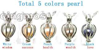 Christmas day gift One Box Wish Pearl heart pendant and 5X pearl