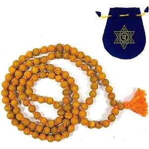 HALDI JAPA MALA BEADS ~ Turmeric Yoga Meditation Beads w