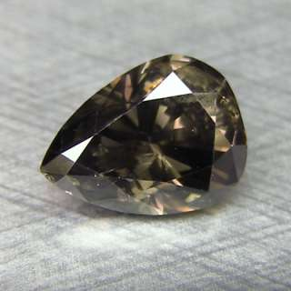 81cts Pear Fancy Steel Grey Natural Loose Diamond