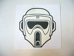 STAR WARS SCOUT TROOPER HELMET TEMPORARY TATTOO SDCC SW