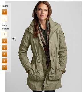 Eddie Bauer Womens Cotton Field Parka Coat Jacket S,M NEW NWT FALL