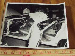 Old Photograph, Car Accident, Fatality, 1960s, or 70s era, 8 x 10