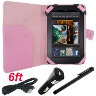 for Kindle Fire   Folio Carry Case Cover / USB Cable Cord / Car