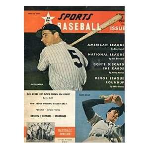 DiMaggio / Ralph Kiner Unsigned 1951 Sports Baseball Cover Magazine