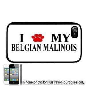 Belgian Malinois Paw Love Dog Apple iPhone 4 4S Case Cover
