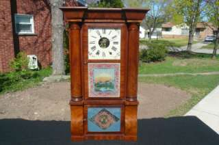Atkins Mahogany Empire 8 Day Weight Driven Shelf Mantle Clock Painted