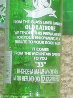 Rolling Rock Capped Beer Bottle Latrobe Pa Last Of Era