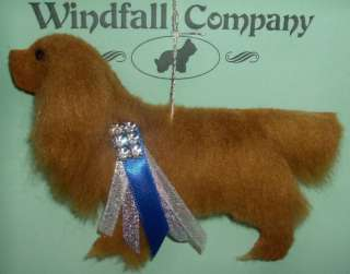 Ruby Cavalier King Charles Spaniel Dog Plush Rhinestone Christmas