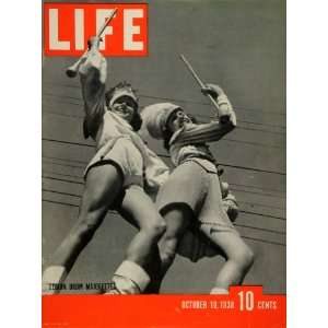 1938 Cover LIFE American Legion Drum Majorettes Margie