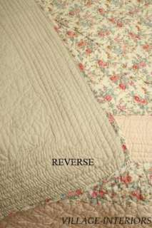 FRENCH CHIC SHABBY COUNTRY CELINA COTTON QUILT THROW