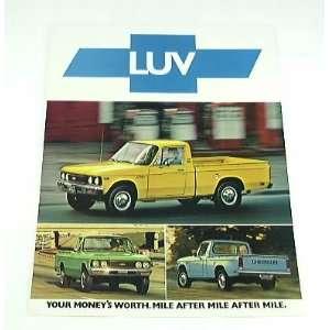 1976 76 Chevrolet Chevy LUV Pickup Truck BROCHURE