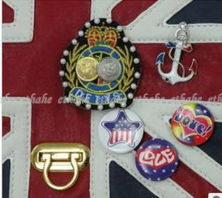 Union Jack Flag Chain Sling Flap Shoulder Bag E1FAZW