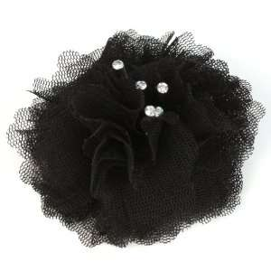 Elegant Fishnet Corsage Hair Clip Pin Brooch Clothing Hats