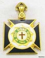 Knights Templar Masons Masonic   14k Solid Gold *Unique* FOB Pendant