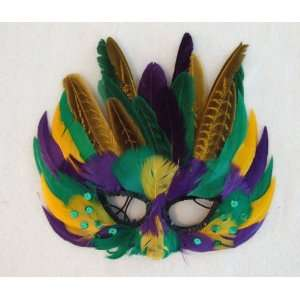 Mardi Gras Colors Masquerade Ball Party Mask Costume