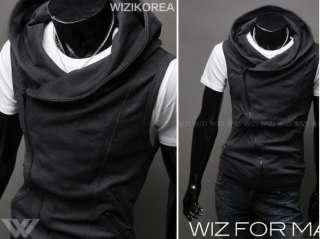 New Mens Style Slim Casual SWEATER Hoodies Vest Suit Waistcoat