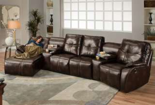 ... Leather Home Theater Sectional Sofa Recliners U0026 Chaise ...