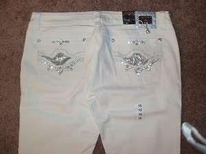 LA Idol USA Womens Ladies White Skinny Jeans 15 NWT