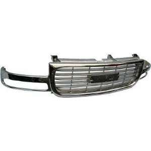 99 02 GMC SIERRA PICKUP GRILLE TRUCK, ALL Chrome, Except