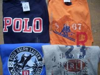 Variety of Polo Ralph Lauren LS Graphic Tee Shirt Boys New 6 7 10 12