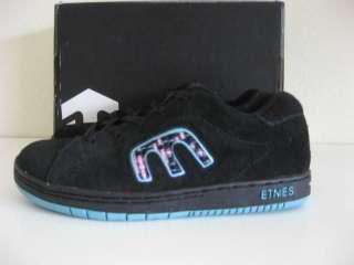 NEW Etnies CUTE Black Suede Girls Kids SKATE Shoes 4.5
