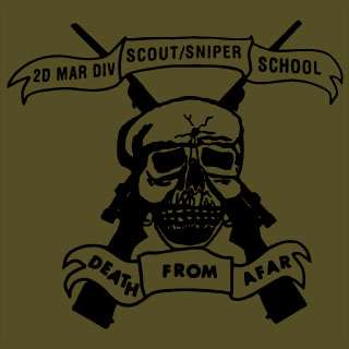 Scout Sniper School USMC One Shot Marine Corps T Shirt