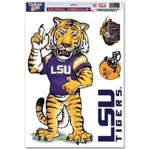 LSU Tigers Static Cling Decal Sheet   Mascot: Sports