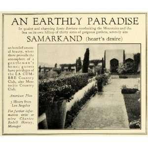 Santa Barbara Calif Samarkand Hotel La Cumbre Monticello Country Club