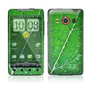 HTC Evo 4G Skin Decal Sticker   Green Leaf Texture