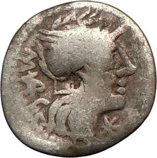 Roman Republic 130BC M. Vargunteius Rare Ancient Silver Coin JUPITER