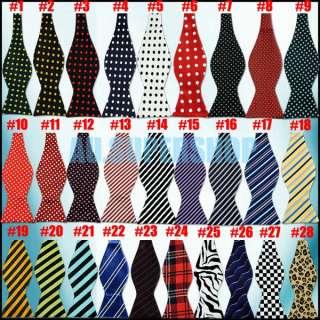 Fashion Adjustable Mens Multi Color Silk Self Bow Tie Necktie Ties