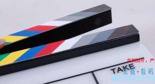 acrylic Clapper board Director TV Film Slate Movie Cut