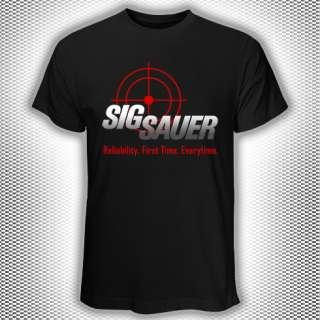 New T Shirt SIG SAUER Arm Guns SIGARMS Logo S   3XL
