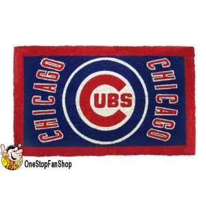 com Chicago Cubs New Coir Welcome Door Mat Doormat Sports & Outdoors