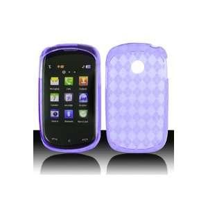 LG 800G TPU Skin Case with Inner Check Design   Purple