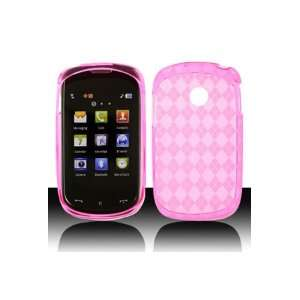 LG 800G TPU Skin Case with Inner Check Design   Hot Pink