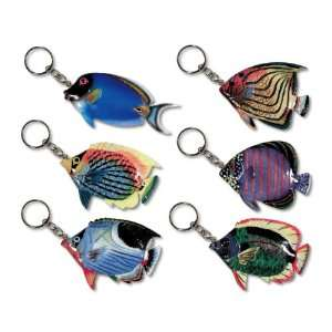 com Wholesale Pack Handpainted Assorted Large Tropical Fish Keychain