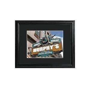 San Jose Sharks Personalized NHL Pub Print with Wood Frame