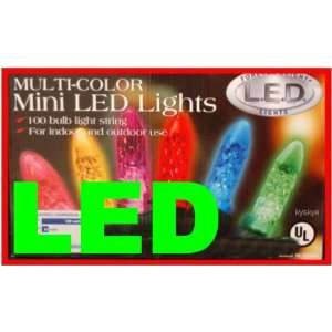 100 Bulb String Mini Multi Color LED Christmas Lights