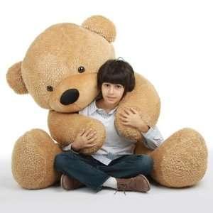 Shaggy Cuddles Soft and Huggable Giant Amber Teddy Bear
