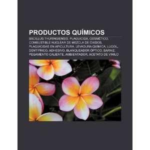 : Productos químicos: Bacillus thuringiensis, Plaguicida, Cosmético