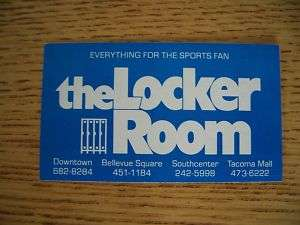 1981 Seattle Seahawks Football Pkt Schedule Locker Room