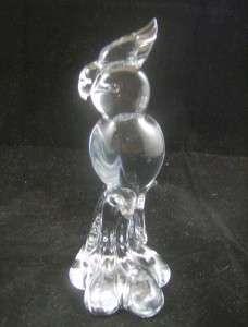 HAND SCULPTURED ART GLASS COCKATIEL BIRD ~Signed