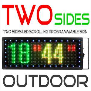 18x44 TWOSIDES LED MOVING SCROLLING SIGN DISPLAY(RPG)